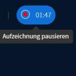 BigBlueButton Aufzeichnung Pausieren
