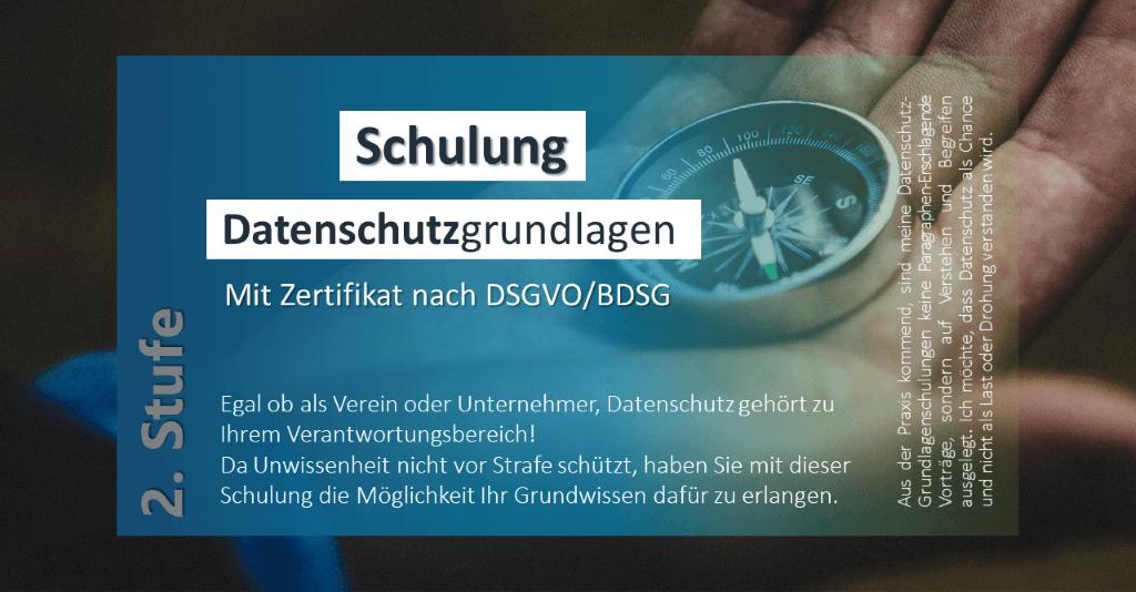 Schulung mit Zertifikat nach DSGVO/BDSG